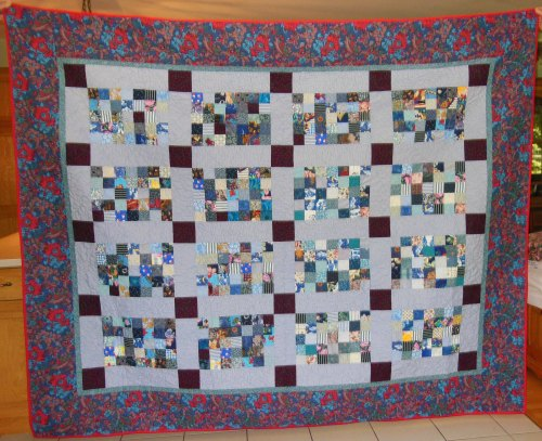 Scrappy Blue Quilt